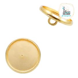 Settings knoopje metaal voor stipsteentjes 12mm Gold
