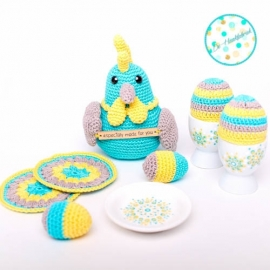 Crochet Pattern Easter Eggs & Egg Cups