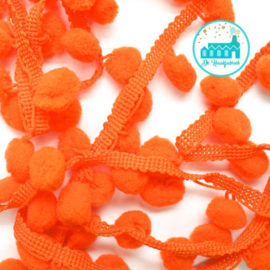 Pompon Strip Orange 1 meter / pompons 1 cm