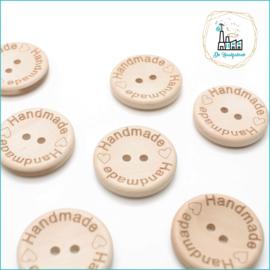 20 mm Houten Knopen Handmade met hartje