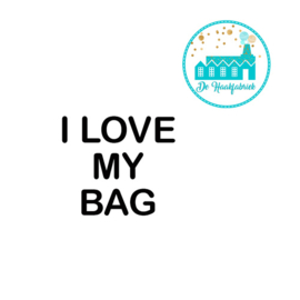 Big Labels 8 cm x 3 cm 'I LOVE MY BAG'