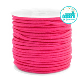Koord Elastiek Fuchsia/ Roze 1 meter 2,5 mm breed