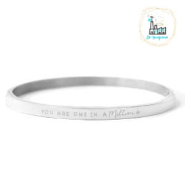 "Stainless steel armbanden ""YOU ARE ONE IN A MILLION"" Zilver"