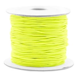 Gekleurd Elastiek Neon Geel