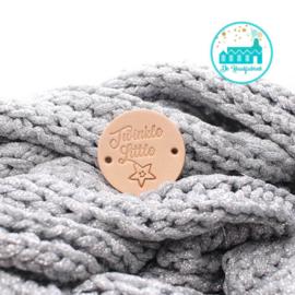 Ronde Leren label 3,5 cm Twinkle Little Star