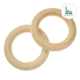 Blanke Houten Ring 50 x 8 mm