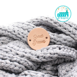 Ronde Leren label 3,5 cm Sweet Dreams