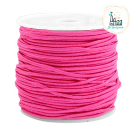 Koord Elastiek Fuchsia 1 meter 1,5 mm breed