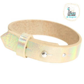 Cuoio armbanden leer 15 mm  Holographic Champagne