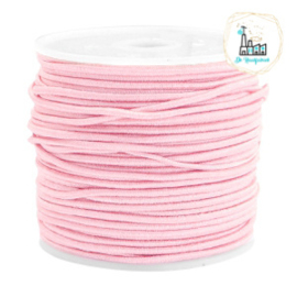 Koord Elastiek Roze 1 meter 1,5 mm breed