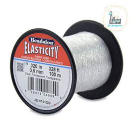 Beadalon elastiek rijgdraad 0.5mm  Clear