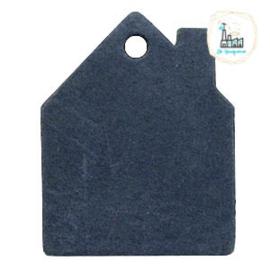 Leren Huisjes Labels 55 mm x 43mm Donker Blauw