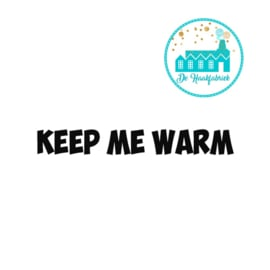Big Labels 8 cm x 3 cm Keep Me Warm vet lettertype Overdwars