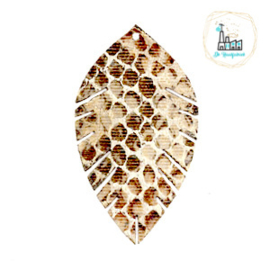Imi leer hangers leaf snake Beige-brown Small