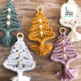 Macrame Patroon  Kerstboompje