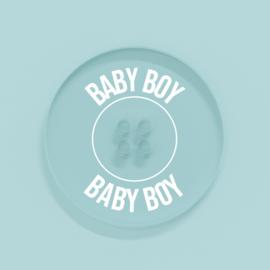 Kunststof Knoopje 25MM Baby Boy