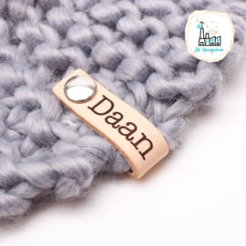 """LITTLE LABEL MET NAAM lettertype """"DAAN"""""""