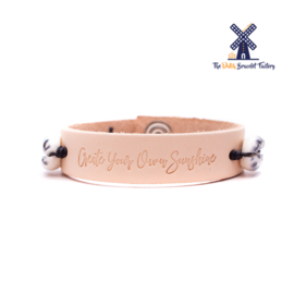 Leren Armband Create your own Sunshine 005