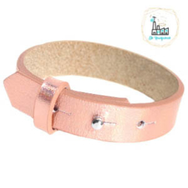 Cuoio armbanden leer 15 mm  Holographic Rosegold