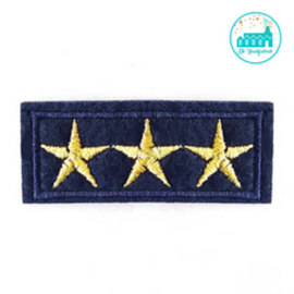 Patch Army stars Blue-gold 6 cm x 3 cm