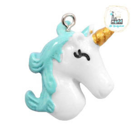 Unicorn Bedel White-turquoise 28x23mm