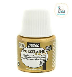 Porseleinverf Pébéo 044 Metallic Gold flacon 45ml