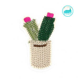 Patch Cactus in jar 6 cm x 4 cm