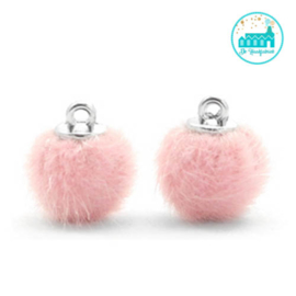 Mini Pompons Faux Fur 12 mm Light Pink