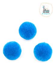 Pompon Stof 30MM Kobalt Blauw