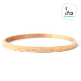 "Stainless steel armbanden ""YOU ARE ONE IN A MILLION"" Rose Gold"