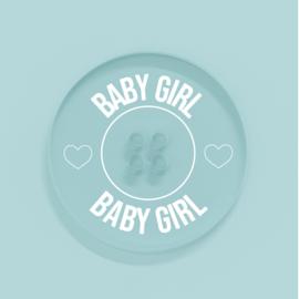 Kunststof Knoopje 25MM Baby Girl