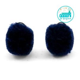 Mini Pompons 15 mm Donker Blauw