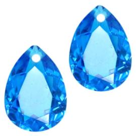 Glass Pendant 10x14mm CAPRI BLUE