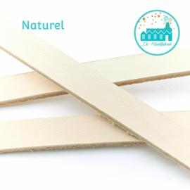 Leather Labels Naturel 1,5 cm wide