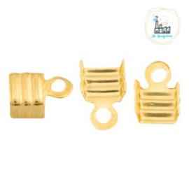 Metaal veterklem 3mm Goud (nikkelvrij)