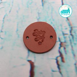 Ronde Leren label 3,5 cm Baby Boy