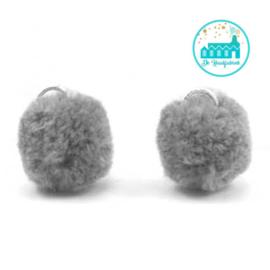 Mini Pompons 15 mm Grey