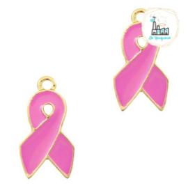 bedels ribbon Goud-pink 18 x 10 MM