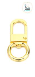 Sleutelhangers 53x23,5mm Goud