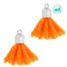 Kwastjes Fluor Oranje 2 cm