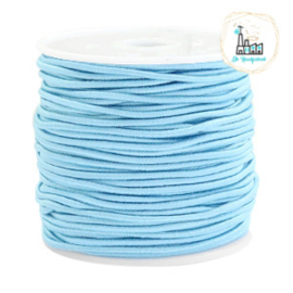 Koord Elastiek Licht Blauw 1 meter 1,5 mm breed