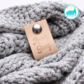 Big Labels with Push-Button Naturel 10 cm x 3 cm 'Lovely Scarf'