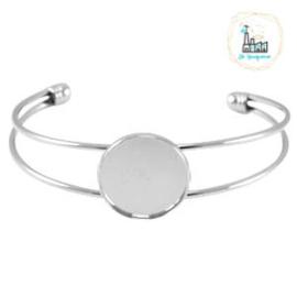 Armbanden rond 20 mm Zilver Kleurig