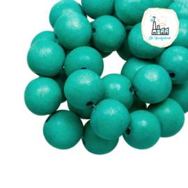 Houten Kralen 12MM Turquoise