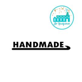 Big Labels 8 cm x 3 cm Handmade Haaknaald Overdwars