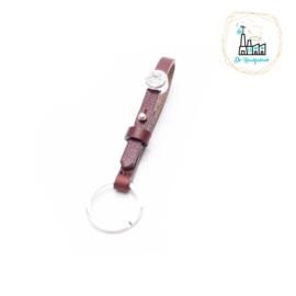 The Dutch Bracelet Factory Sleutelhanger 7845 Rood Bruin