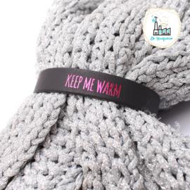 Sjaal Riempjes Zwart-KEEP ME WARM ROSE