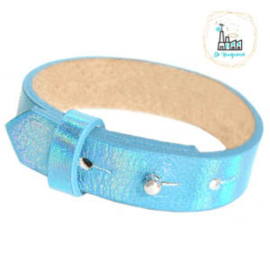 Cuoio armbanden leer 15 mm  Holographic Blue