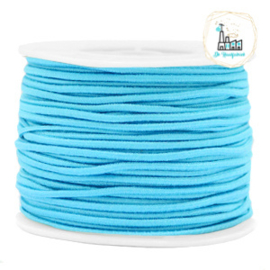 Koord Elastiek 1 meter 2 mm breed AQUA