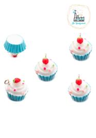 Bedel Cupcake Blauw 16MM